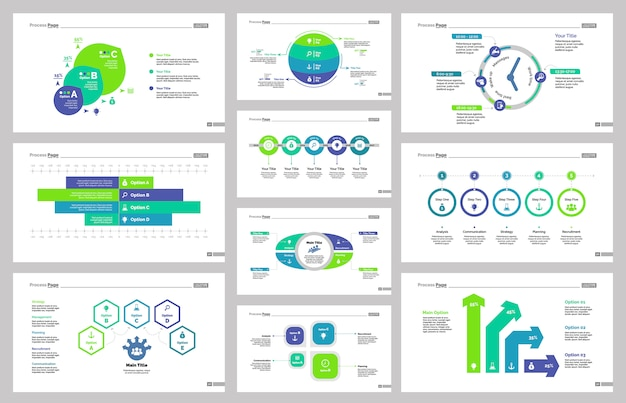 Ten production slide templates set