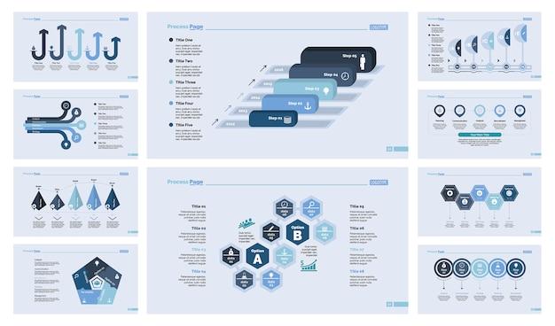 10 개의 연구 슬라이드 템플릿 세트