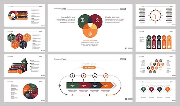 Ten research slide templates set