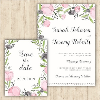 Tender floral wedding invitation