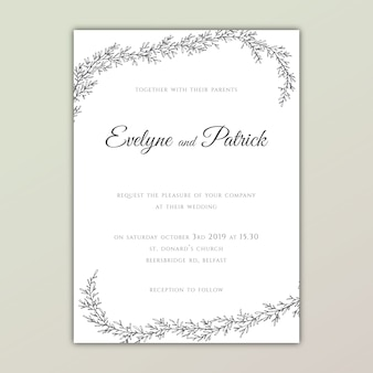 Tender wedding invitation