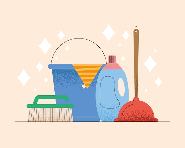 Tending to household four icons