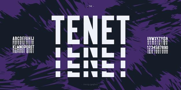 Тенет шрифт современной типографии
