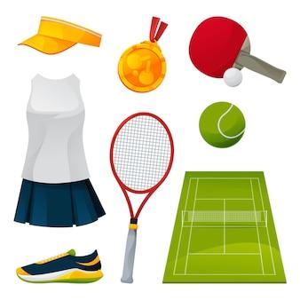 Комплект оборудования для тенниса и пинг-понга, игровые инструменты