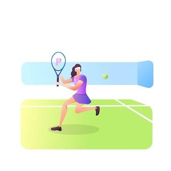白で隔離のテニス選手