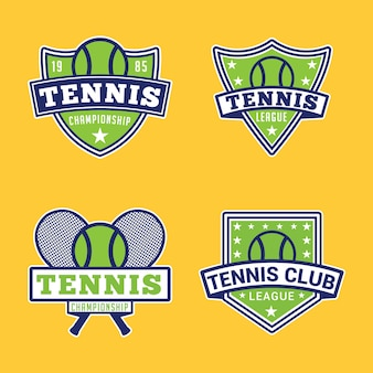 テニスバッジとロゴ