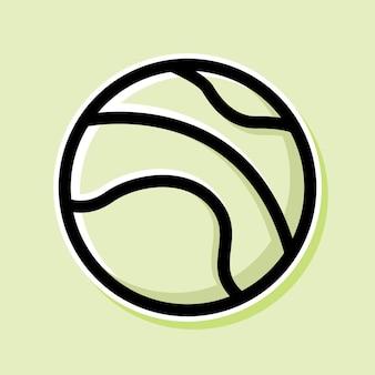 테니스 공 만화 디자인