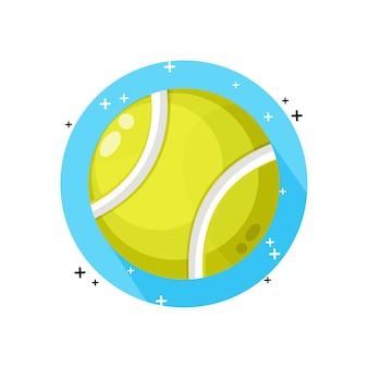 Теннисный мяч значок дизайн