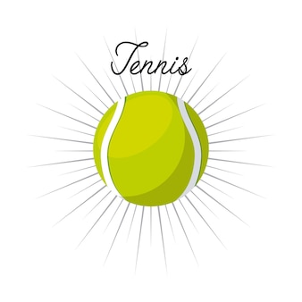 Tennis ball icon over white background. colorful design. vector illustration