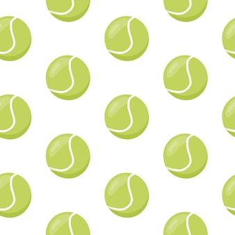 Tennis ball seamless pattern