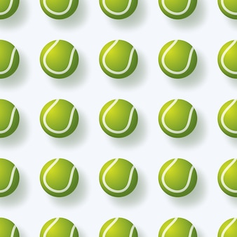 Tennis ball seamless pettern illustration realistic tennis ball seamless pattern