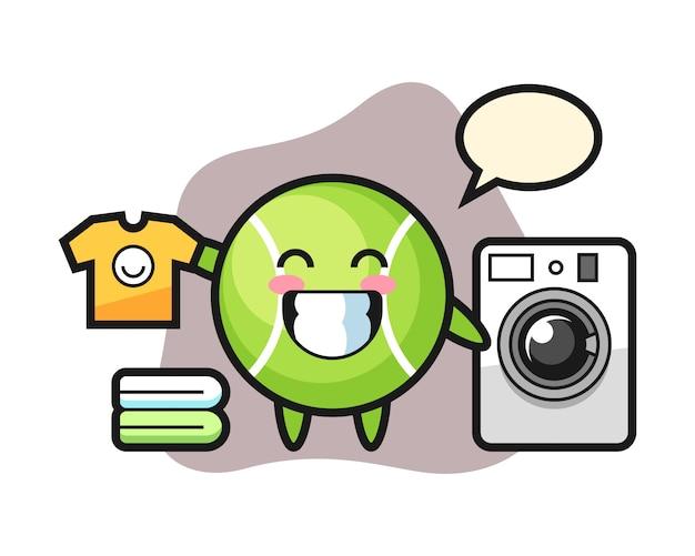 Теннисный мультфильм со стиральной машиной