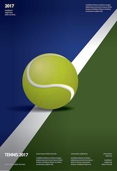 テニス選手権ポスターイラスト