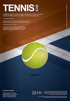 Tennis championship poster template
