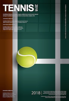 Tennis championship poster vector illustration