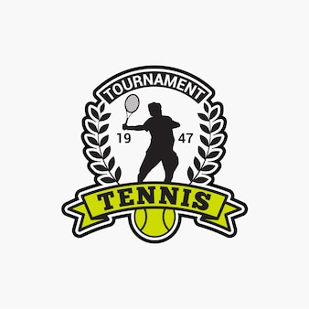 Tennis club badge