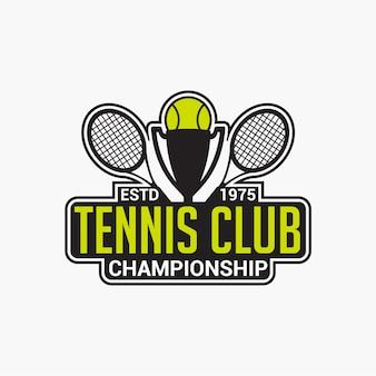 Tennis club badge