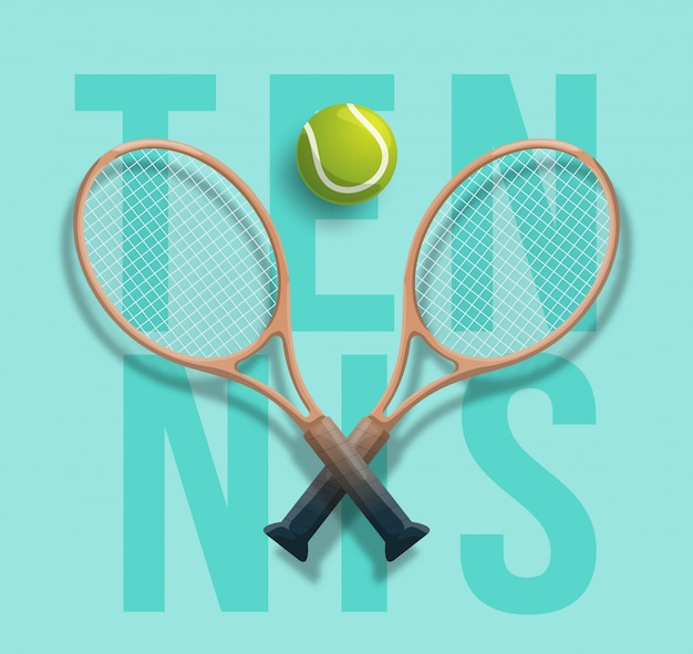 Tennis club racket cross ball game competition  illustration