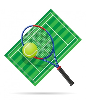 Tennis court vector illustration