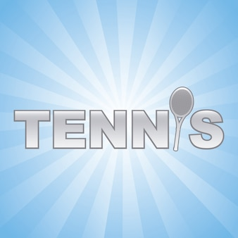 Tennis design over blue background vector illustration