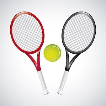 Tennis design over vintage background vector illustration