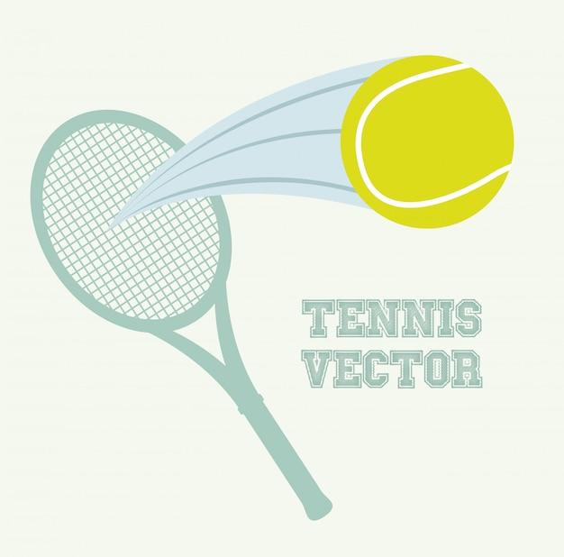 Tennis design over vintage background