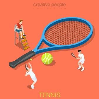 テニスフラットアイソメトリックスポーツ