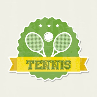 Tennis frame over cream background vector illustration