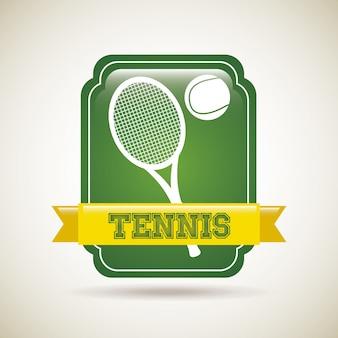 Tennis frame over vintage background vector illustration