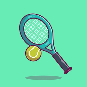 Tennis  icon . racket and tennis ball, sport icon  isolated