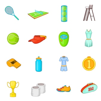 Tennis icons set