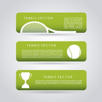Tennis infographics over gray background