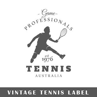 고립 된 테니스 레이블입니다. 디자인 요소.