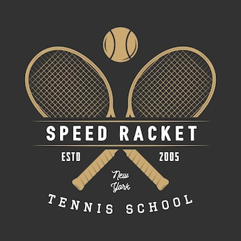 Tennis logo, badge