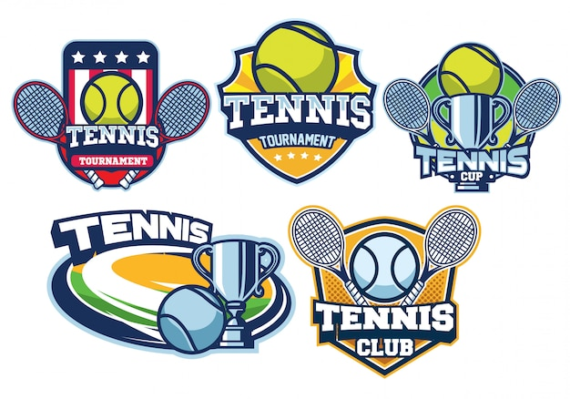 Tennis logo design set