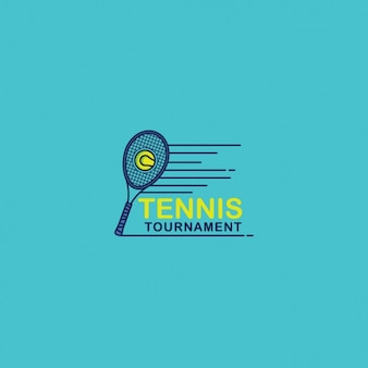 Tennis logo on a blue background