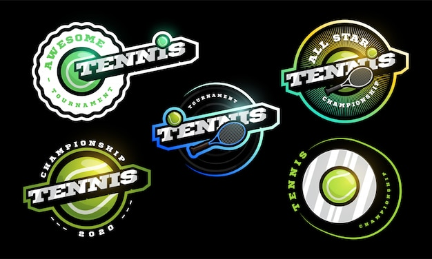 テニスのロゴセット