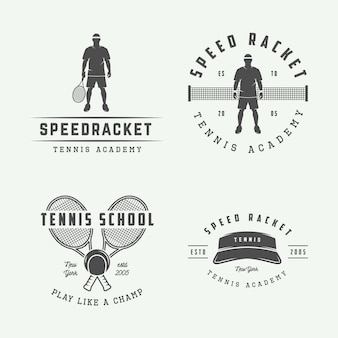 Tennis logos, emblems, badges