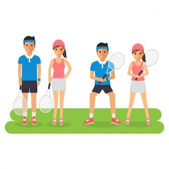 テニスプレーヤーのデザイン