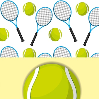 Tennis racket and ball sport competition pattern