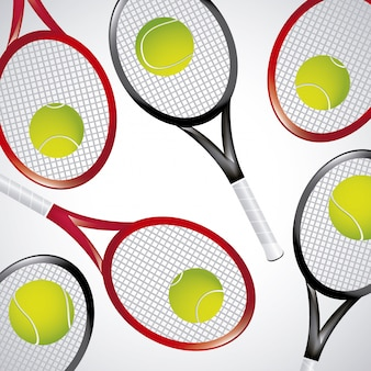 Tennis rackets over white background vector illustration