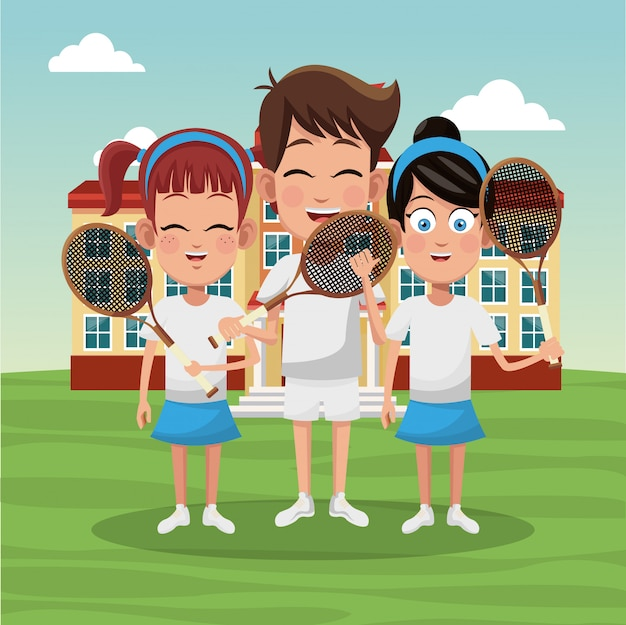 Tennis school team