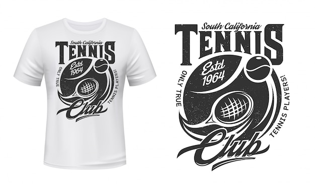 Tennis sport club t-shirt print  mockup