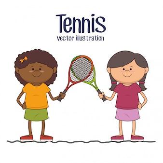 Tennis sport game