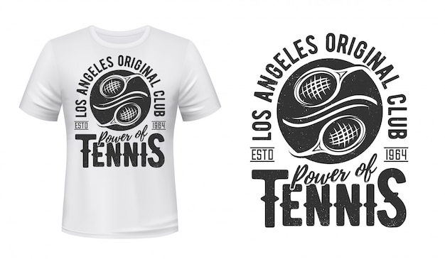 Tennis t-shirt print mockup, sport club team