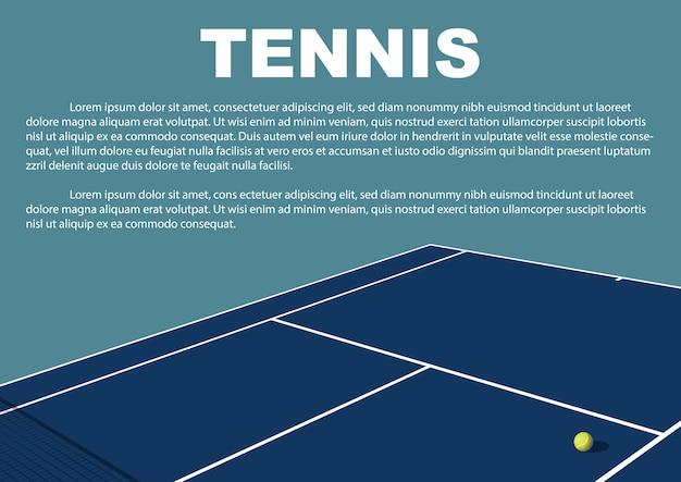 Tennis tournament poster design. vector template.