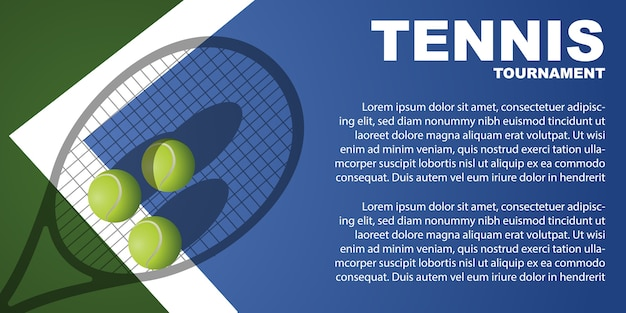 Tennis tournament poster design. vector template.