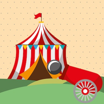 Tent shooting cannon carnival fun fair festival