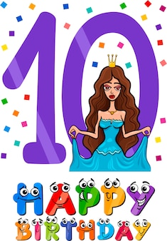 열 번째 생일 만화 디자인