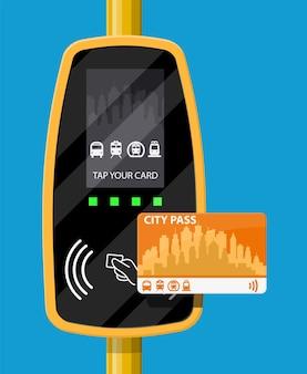 터미널 및 여객 운송 카드.